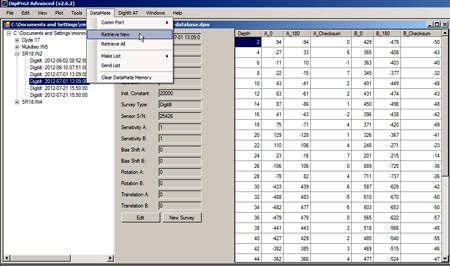 DigiPro2 Software Database Management