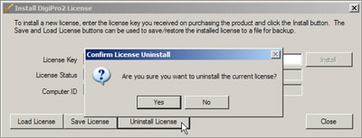 to move key, first uninstall license on old computer.