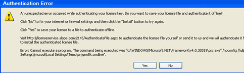 if you cannot access authentication server, you will get this authentication error.