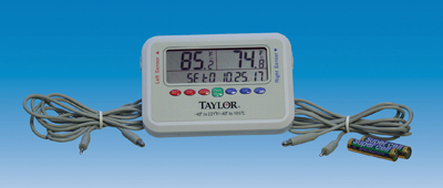 Dual Sensor Min./Max Thermometer