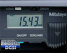 digital tape extensometer screen