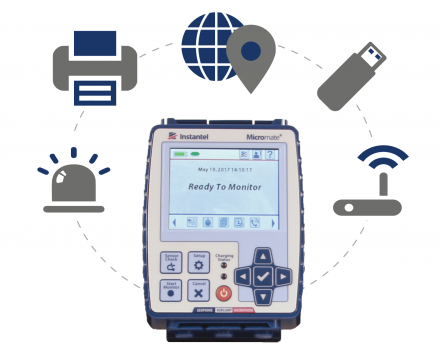 picture showing micromates ability to connect to USB hubs, printers, memory sticks, modems or a GPS