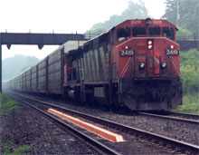 Picture of a Train using Track Monitor System